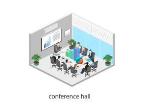 办公开会场景模拟主题矢量元素矢量素材设计