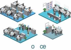等距场景模拟插画主题矢量元素矢量素材设计