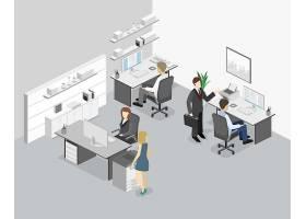 办公场景模拟主题矢量元素矢量素材设计
