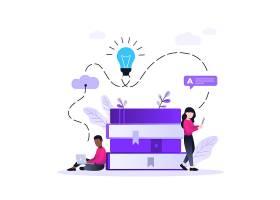 互联网社交网页插画主题矢量元素矢量素材设计