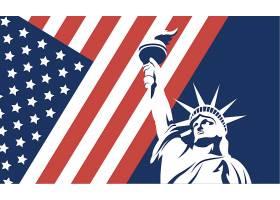 美国自由女神主题矢量元素矢量素材设计