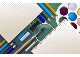 回到学校和配件集合图学校元素素材