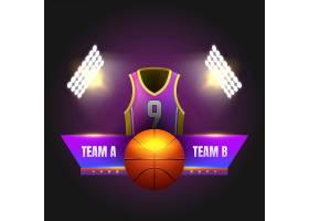 高清矢量图彩色T恤和篮球服适合所有人体设计