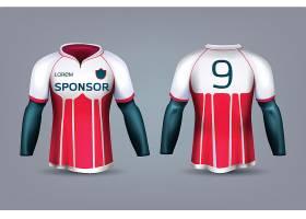 高清矢量图彩色T恤和足球服适合所有人体设计