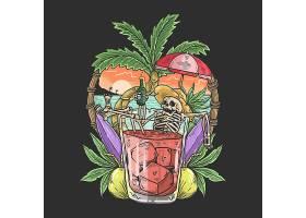创意个性天然美味新鲜果汁饮料素材广告海报
