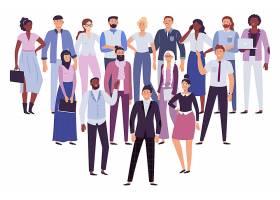 商务办公人物聚集主题人物角色插画设计