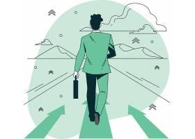 商务人物步行主题现代人物插画设计