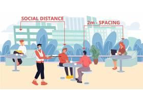 独立社交主题人物插画设计