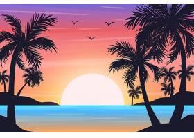 时尚清新海边沙滩电商通用装饰插画设计