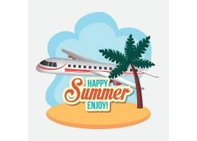 创意夏日夏季旅行度假插画设计