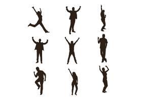 人物拍照姿势主题人物角色插画设计