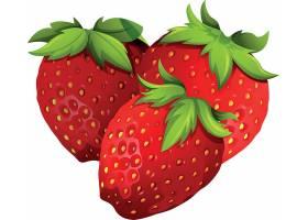 高清草莓奶茶插画素材广告海报设计素材元素