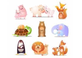 高清可爱的秋天的森林动物画动物集插图