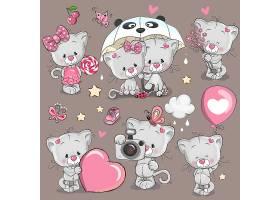 可爱小熊情人节形象卡通手绘插画设计