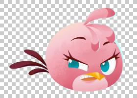 微笑,鼻子,粉红色,愤怒的小鸟卡通形象,坏公主,电子游戏,Rovio娱图片