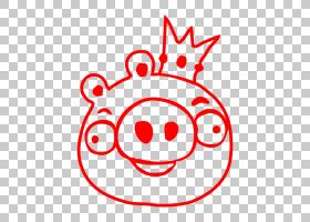 愤怒的小鸟猪,线条艺术,圆,线路,面积,笑脸,微笑,Yandex,白色,游