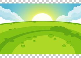 家谱背景,小山,云,草,生态区,牧场,草原,地平线,阳光,绿色,字段,图片