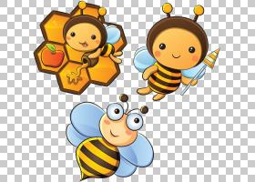 蜜蜂卡通,传粉者,娱乐活动,线路,材料,食物,微笑,面积,蜜蜂,幸福,