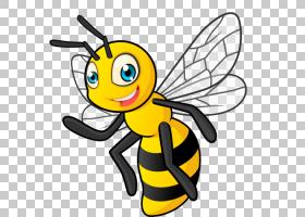 蜜蜂背景,机翼,线路,传粉者,黑白相间,黄色,线条艺术,蜂刺,动画片