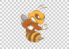 蜜蜂卡通,黄色,尾巴,传粉者,蜜蜂,昆虫,绘图,动画片,动画,蜜蜂,