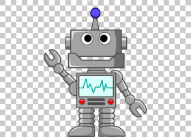 可爱的卡通,材料,线路,机器,技术,计算机,聊天机器人,家用机器人,