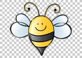 国庆节,鲜花,幸福,传粉者,线路,笑脸,微笑,黄色,可爱,全国蜜蜂节,