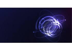 深色光影光晕光粒子科技感矢量背景