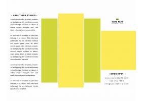 时尚简洁商务通用宣传折页模板