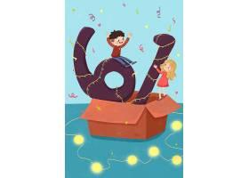 唯美手绘儿童节主题手绘插画海报背景设计