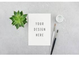 文艺小清新纸质平铺桌面写实物品智能样机素材