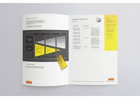 印刷品画册书本杂志内页展示样机素材