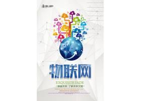 物联网主题现代信息技术个性海报