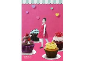 时尚青春创意儿童与大物品主题童心梦想海报