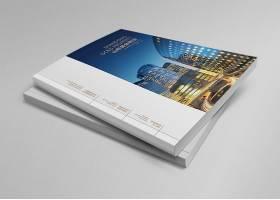 现代平铺印刷品公司企业画册杂志展示样机素材
