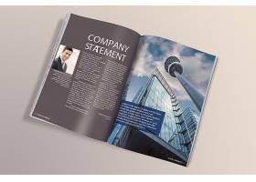 场景模拟平铺印刷品公司企业画册书本杂志展示样机素材