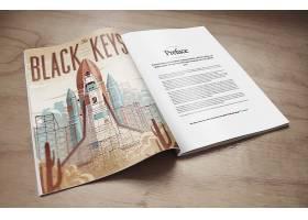 画时尚简洁印刷品公司企业画册杂志展示样机素材