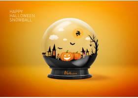 圣诞节平安夜水晶球元素海报设计