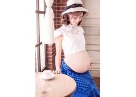 欧式洋气主题孕妇人物摄影写真照片素材