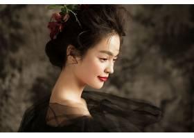 黑蕾丝性感主题孕妇人物摄影写真照片素材