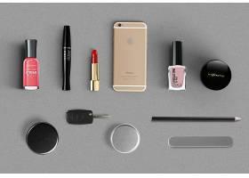 平鋪化妝品產品外包裝外觀智能樣機素材