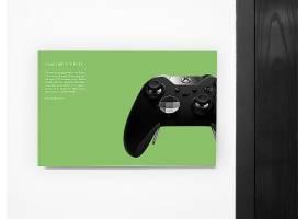 绿色环保游戏机柄VI样机