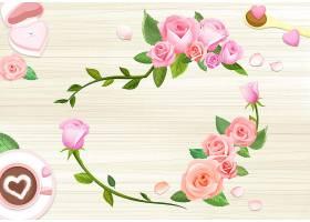 手绘花朵背景