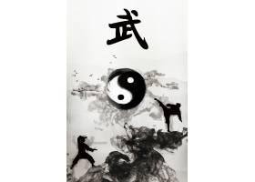 武术功夫跆拳道主题中国风水墨海报模板