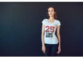 時尚潮流清爽T恤班服企業服工作服效果展示樣機
