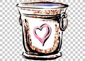 冰桶抽象个性涂鸦插画免扣元素