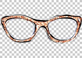 眼镜框抽象个性涂鸦插画免扣元素