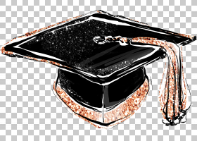 毕业帽抽象个性涂鸦插画免扣元素