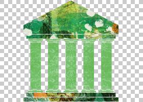 罗马建筑古董建筑主题创意插画免扣元素