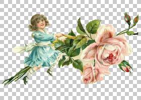小女孩和花束图片