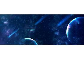 星空宇宙光影科技主题海报展板Banner背景
